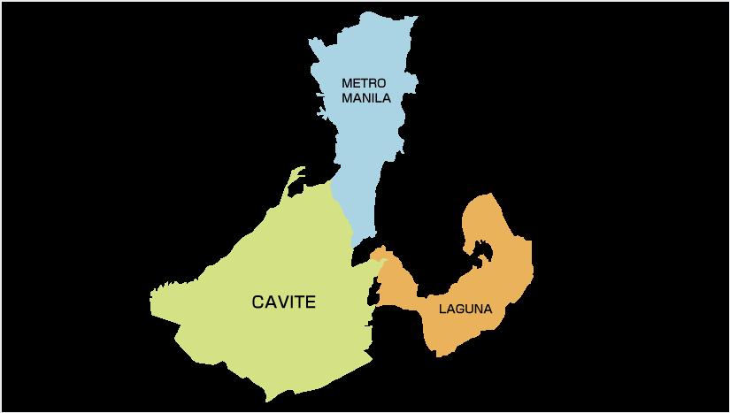 METRO MANILA CAVITE LAGUNA